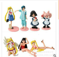 7pcs/set Sailor Moon Tsukino Usagi Action Figures PVC Collection toys for christmas gift brinquedos ToyO00175