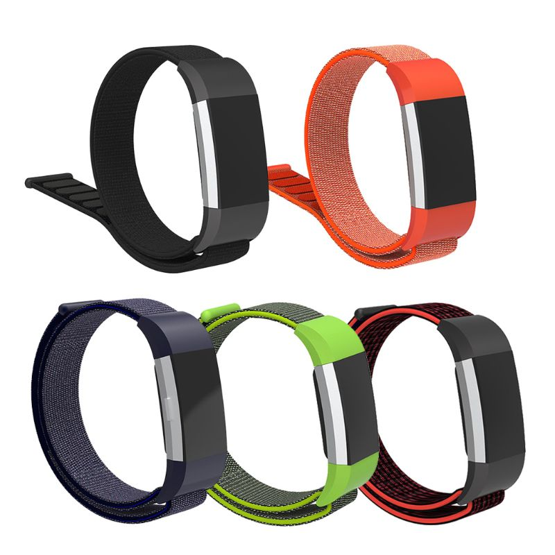 Nylon Hook And Loop Breathable Replacement Strap For Fitbit Charge 2 Wrist Band Smart Tracker