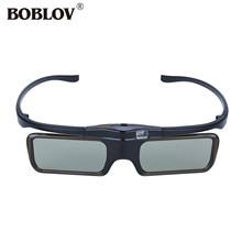 BOBLOV MX30 96-144 Mhz de Freqüência USB Recarregável Óculos 3D DLP Do Obturador Ativo DLP Óculos 3D Para Optoma/BenQ/Sharp