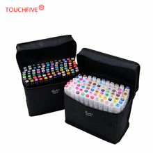 TouchFIVE 80 Color Art Markers Set Dual Headed Artist Sketch Oily Alcohol based markers For Animation Manga painting supplies art markers set dual headed sketch alcohol drawing pens markers animation manga art supplies