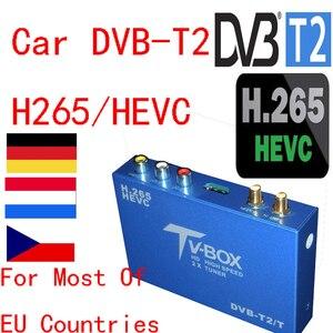 Автомобильный цифровой ТВ-ресивер H.265, 2 антенны HD DVB T2 /H265.HEVC, для Германии, страны ЕС, из Германии