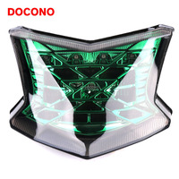 DOCONO Motorcycle 12V LED Tail Light Assembly Brake Rear Lamp And Steering Signal Lamp For Kawasaki