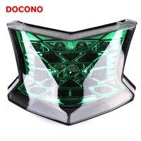 DOCONO Motorcycle 12V LED Tail Light Assembly Brake Rear Lamp And Steering Signal Lamp For Kawasaki