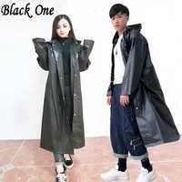 Las mujeres Impermeable negro de los hombres lluvia ropa cubre Impermeable ropa Impermeable Capa de chuva chubasquero Poncho Impermeable con capucha Capa de lluvia