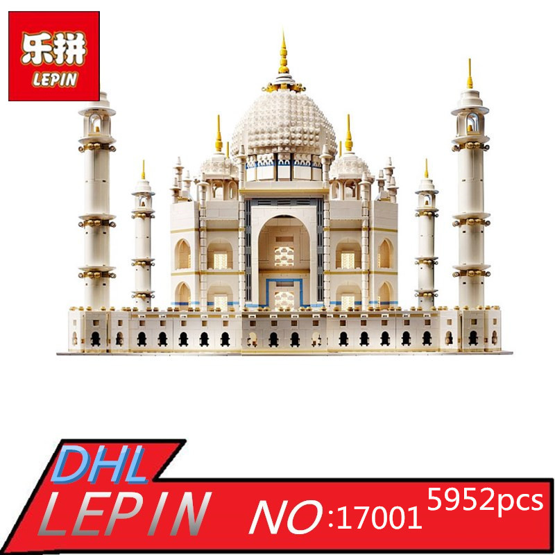 New LEPIN 17001 5952pcs The Tai Mahal Model Building Kits Brick Funny Toys Compatible 10189 Gift lepin 22001 pirate ship imperial warships model building block briks toys gift 1717pcs compatible legoed 10210