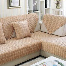 Sofa Plush Protective Case Couch Covers Cover Quilted Twill Cushion Fabric Non-slip Towel