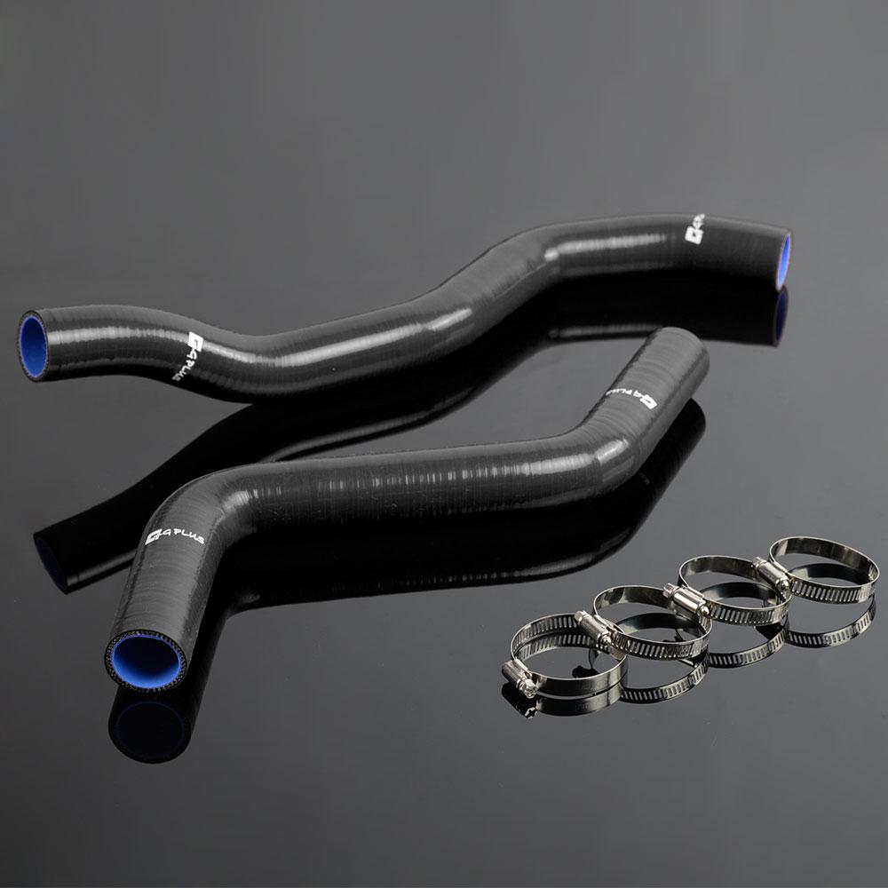 For 95-99 Mitsubishi Eclipse GSX Spyder DSM 4G63 2G Silicone Radiator Hose Kit Black