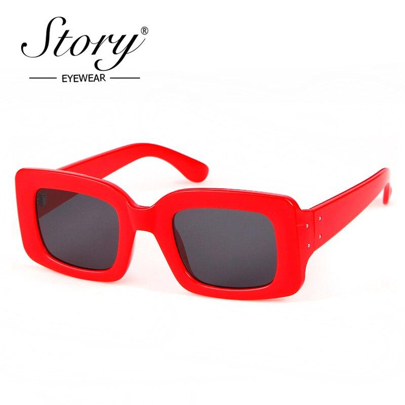 0801eb43746b6 STORY 2018 Vintage Retro Pequena Moldura Retangular Quadrado Óculos De Sol  de Marca Designer de Moda Leopardo Óculos de Sol Mulheres UV400 Shades