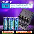 Смарт-зарядное устройство KENTLI  4 шт.  1 5 В  aa  3000mWh литий-ионный аккумулятор + 4 слота  AA  AAA  литий-ионный аккумулятор