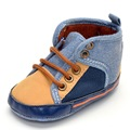 Newborns High Prewalker Sole Soft Cotton Sneaker Shoes Ankle Denim Boots Cradle