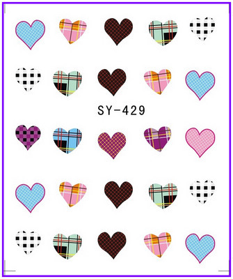 все цены на 1X  Nail Sticker Fabric Sweet Heart  Water Transfers Stickers Nail Decals Stickers Water Decal Opp Sleeve Packing SY429 онлайн