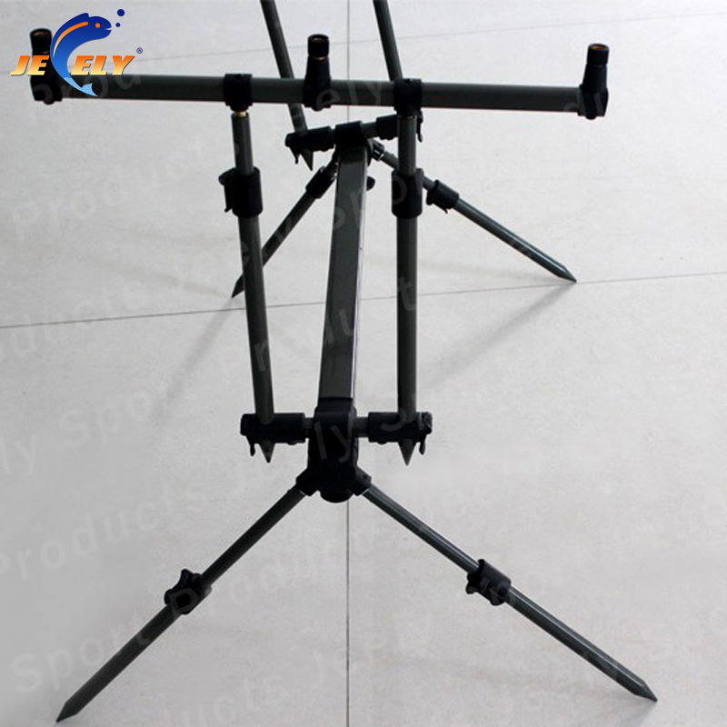 JY-119-2 Carp Fishing Rod Pod Bite Alarm Rod Pod aluminum fishing tackle deboro 2007