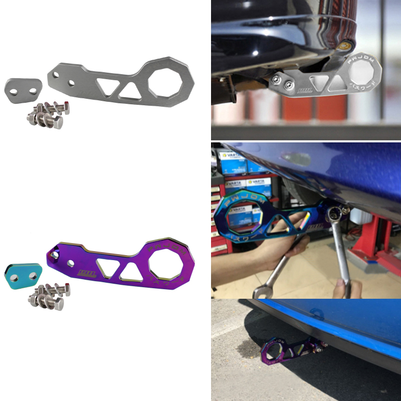 Image 5 - RASTP  Free Shipping JDM Style Racing Rear Tow Hook Aluminum Alloy Rear Tow Hook For Honda Civic RS TH004-in Towing Bars from Automobiles & Motorcycles