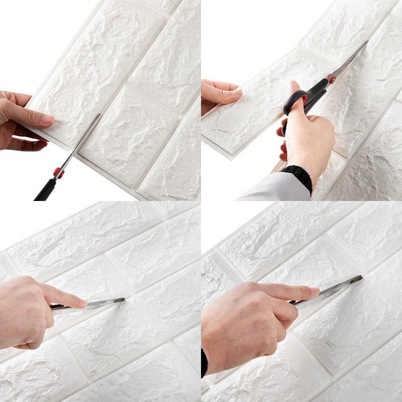 3D לבני קיר מדבקות סלון עמיד למים קצף חדר שינה DIY דבק טפט אמנות 60*30*0.8 cm בית קיר מדבקות