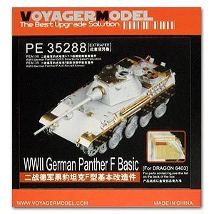 KNL HOBBY Voyager Model PE35288 5 Fighter Panther F-type upgrade with the base metal etching (Dragon)