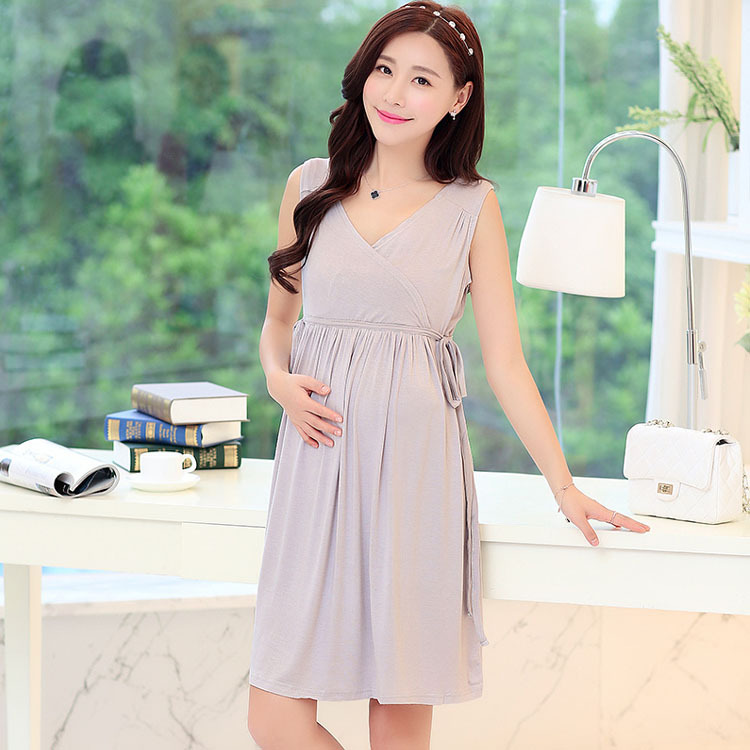 b4da808902a Summer Modal Breastfeeding Nursing Clothes Dress For Feeding Maternity  Clothing Wear Pregnant Women Pregnancy Mothers Fashion-in Dresses from  Mother   Kids ...