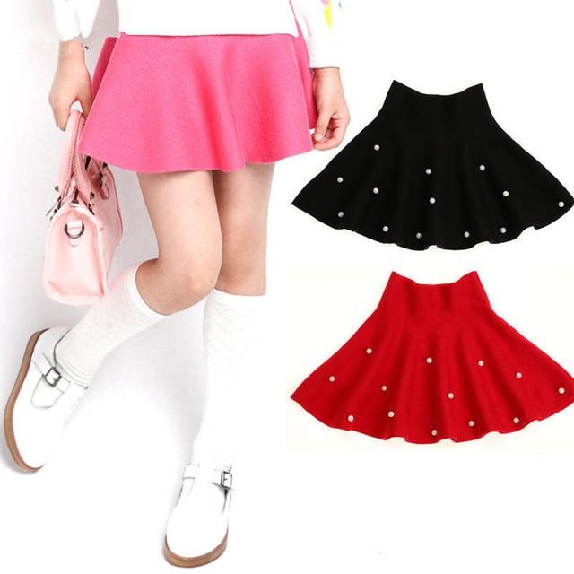 e0fd772fa7 Moda Nastoletnie Dziewczyny Perła Spódnica Mini Spódniczki Tutu Dla  Dziewczynek Dzieci Pettiskirts Linii Jesień Zima Casual