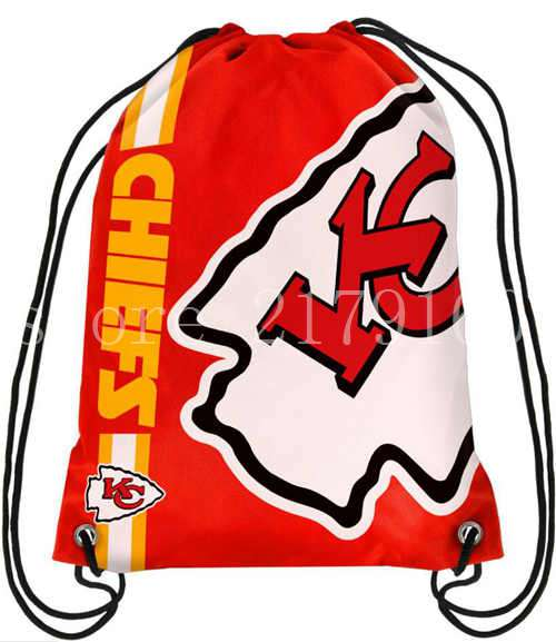 df8a2bb03 35 45 cm drawstring backpack Kansas City Chiefs bag with knitted polyester  material