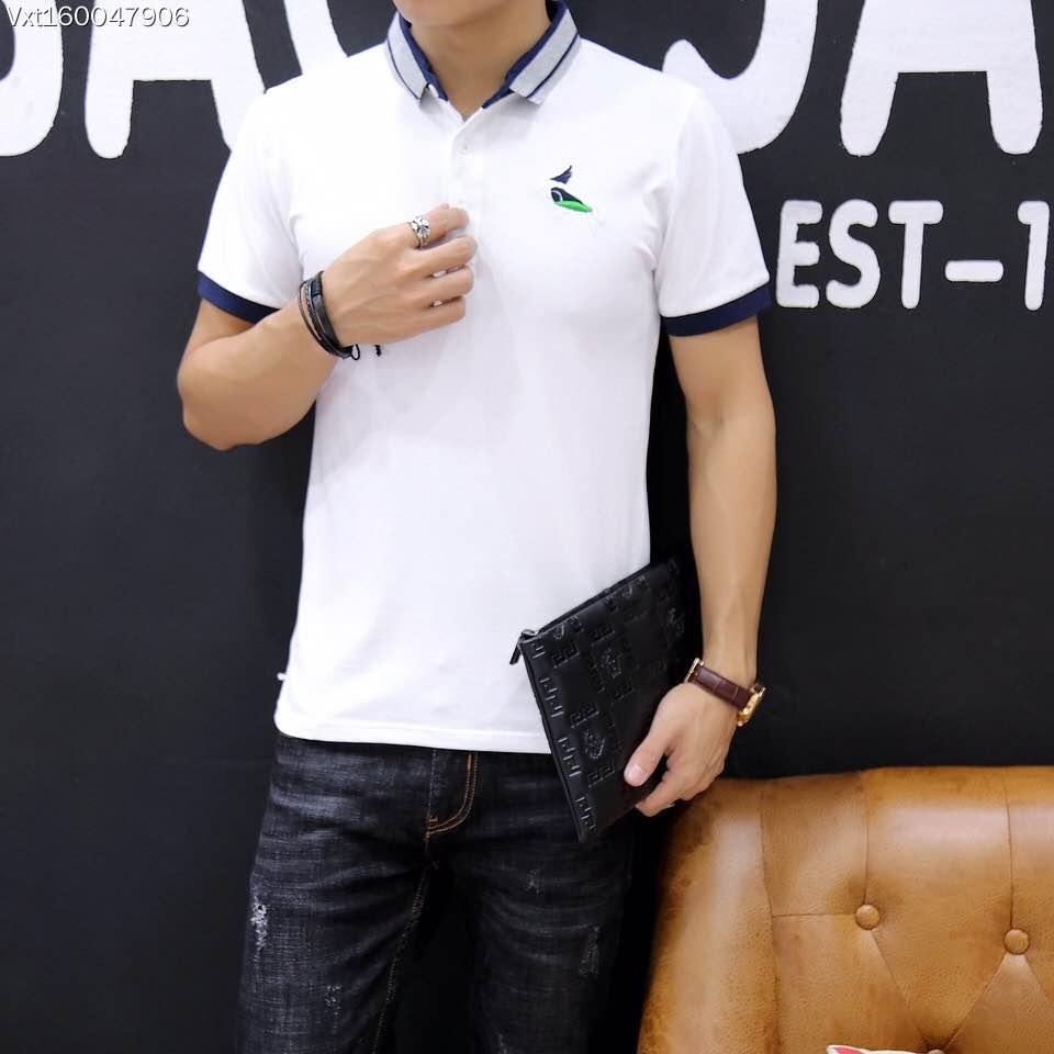 2015 new real camisa solid polo shirt mens fashion cool design short - Bh B6812 Fashion Men S Tops Tees 2017 Summer Hot Sale Fashion Design Short Solid Party Style Polo Shirts Men S Clothing