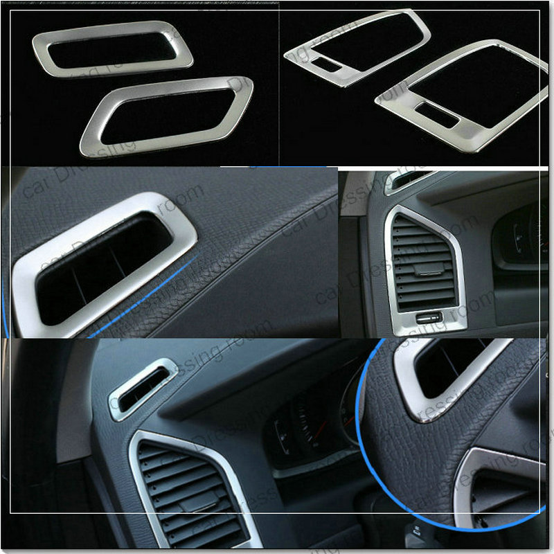Car styling stainless steel trim accessories interior outlet decoration ring For Volvo XC60 4pcs/set epr car styling for mazda rx7 fc3s carbon fiber triangle glossy fibre interior side accessories racing trim