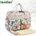 Горячая! прекрасный разноцветные детские пеленки мешок Большой емкости модные матери мешок материнства ребенка коляска пеленки мешок Мама мешок
