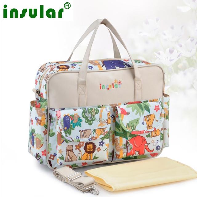 ¡ Caliente!! precioso multicolor bebé bolsa de maternidad bolsa de pañales de Gran capacidad de la madre de moda cochecito de bebé del bolso del panal Mommy bag