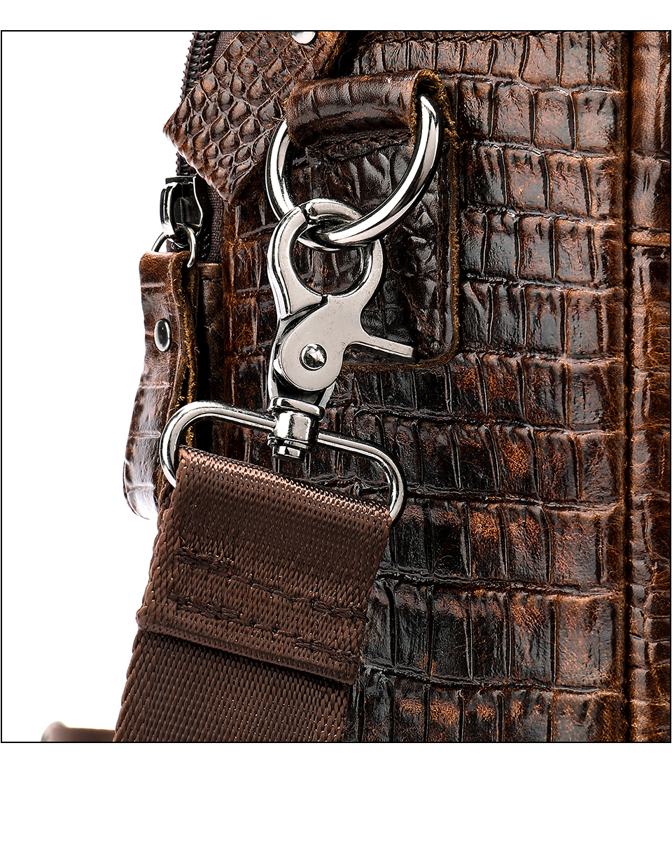 HTB1HT2mXoGF3KVjSZFvq6z nXXaG MVA Male briefcase/Bag men's genuine leather bag for men leather laptop bags office bags for men Crocodile Pattern handbag 5555