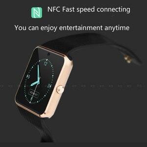Image 5 - Bluetooth スマート時計の大画面タッチフィットネストラッカー腕時計 SIM カードコールメッセージリマインダー歩数計 Android 着用タッチ