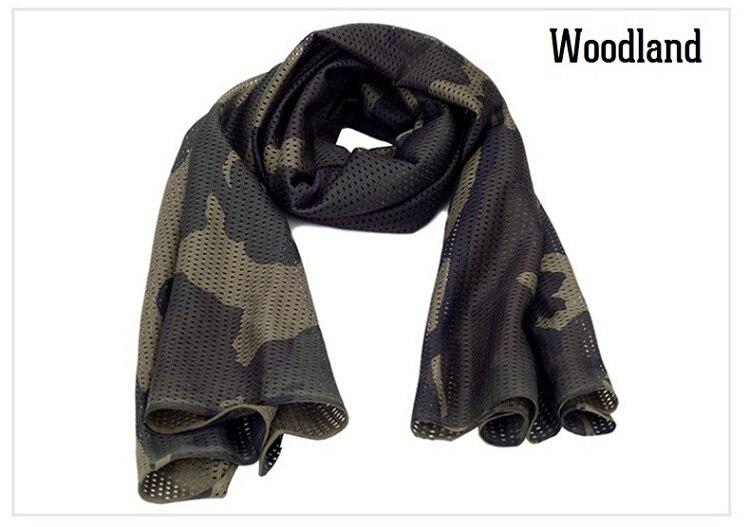 Универсальный арабский армейский Тактический Камуфляжный шарф для мужчин военный джунгли бой ветрозащитная сетка шаль вуаль унисекс Камуфляж шарфы для пейнтбола - Цвет: Woodland