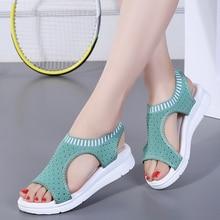 2019 women sandals casual flat platform summer shoes women comfortable breathable sandals beach shoes big size 35-45