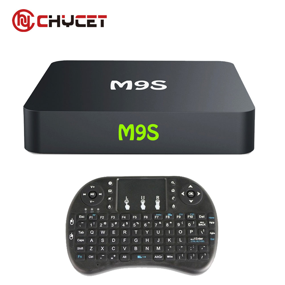 ФОТО Chycet M9S Smart Android TV Box Android 6.0 S905X Quad-core UHD 4K 1/8GB WiFi Media Player Set top Box PK X96 A95X+Keyboard