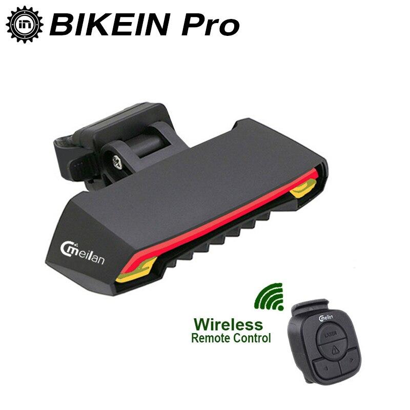 Sans fil Vélo Arrière Lumière Laser Queue Lampe USB Rechargeable Vélo Accessoires De Vélo D'avertissement De Sécurité À Distance LED Clignotants