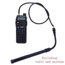 ABBREE AR-152 AR-148 Тактический антенна SMA-удлинить коаксиальный кабель удлинитель для Baofeng UV-5R UV-82 UV-9R иди и болтай Walkie Talkie