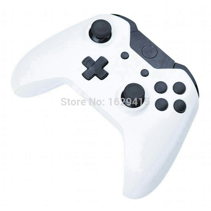 For Microsoft XBOX One Wireless Controller Matte White Housing Shell with Full Black Buttons Mod Kit