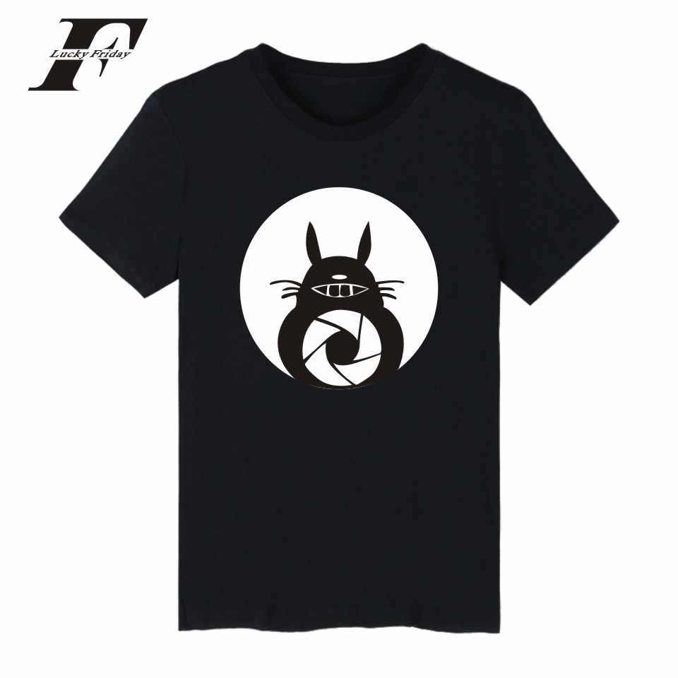 LUCKYFRIDAYF Harajuku Totoro kawaii Anime funny T shirts O-Neck Tee Shirt Hip Hop Summer Short Sleeve Cute T-shirt clothing