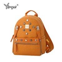 YBYT Brand 2017 New Vintage Casual Women Rucksacks High Quality Female Rivets Bags Ladies Travel Knapsack