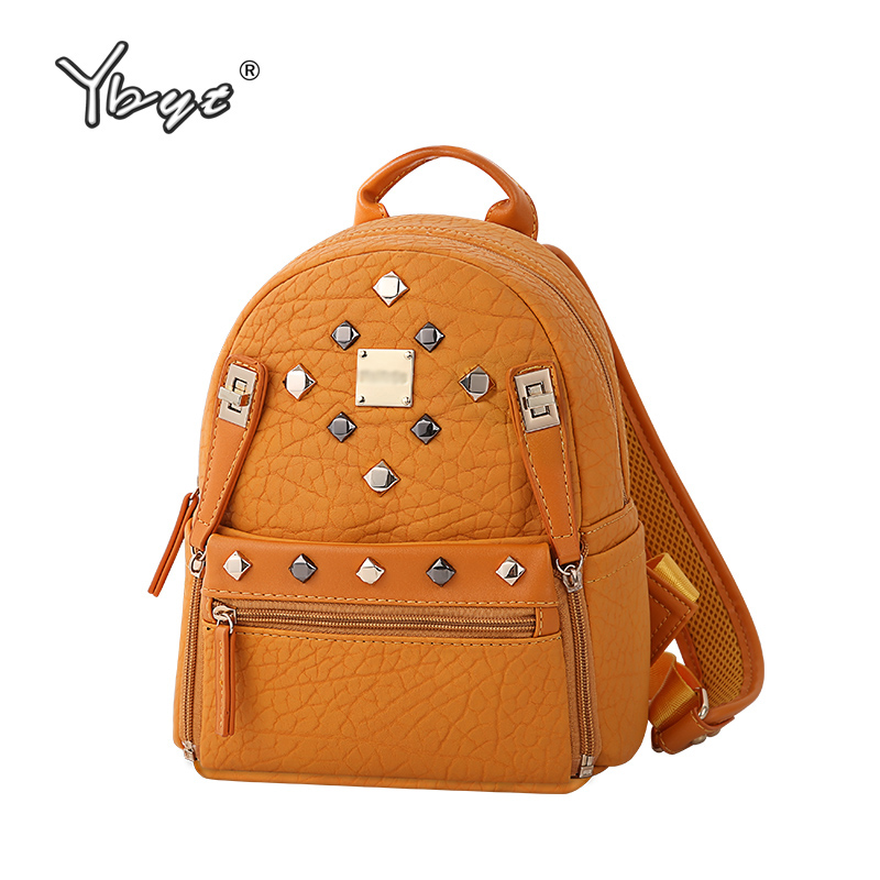 Best buy YBYT brand 2017 new vintage casual women rucksacks high quality female  rivets bags ladies travel knapsack girls school backpacks online cheap fbea09a8e17de