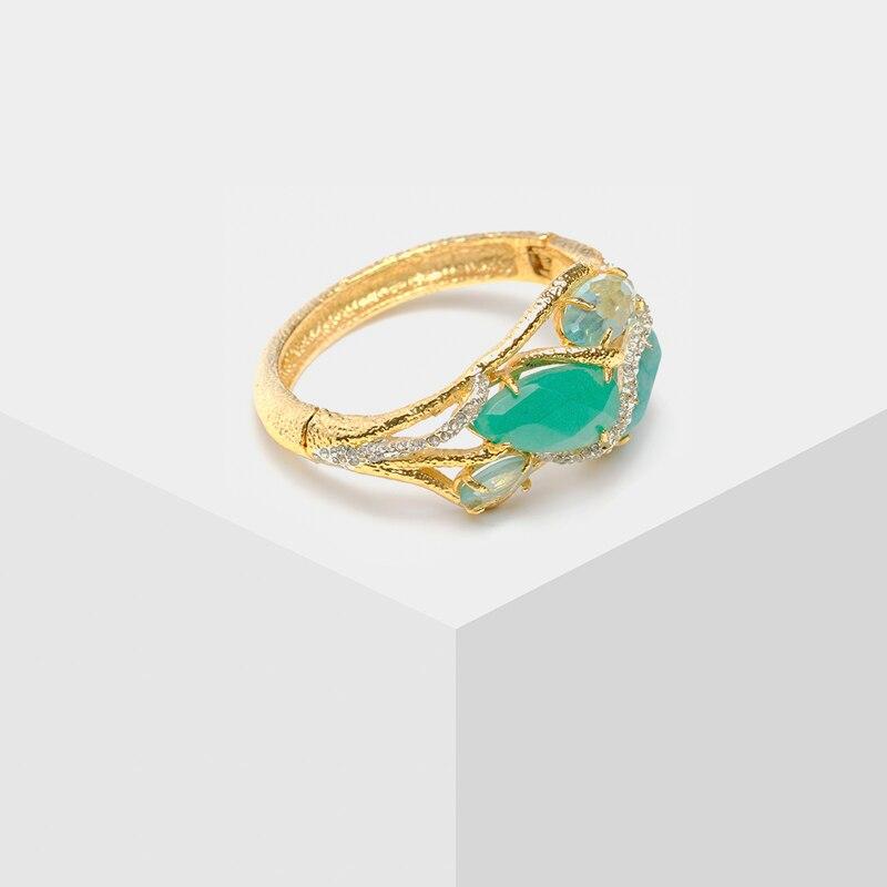 Amorita boutique New fashion Color block inlaid Bangles