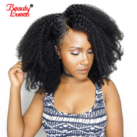 Mongolian Afro Kinky Curly Wig 150% Density Lace Front Human Hair Wigs For Women Remy Hair Pre Plucked Bleached Knots Brazilian