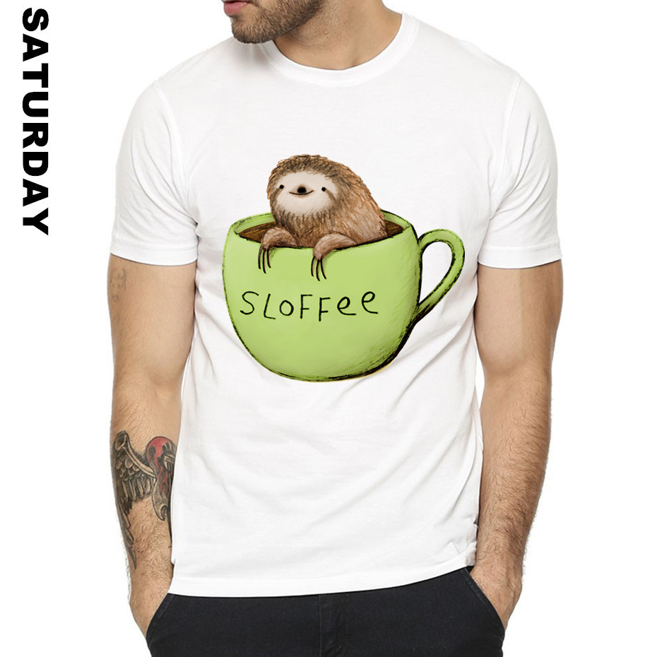 a876d9956 Sloth Motto Spirit Animal Design Funny T Shirt for Men and Women,Unisex  Comfortable Graphic