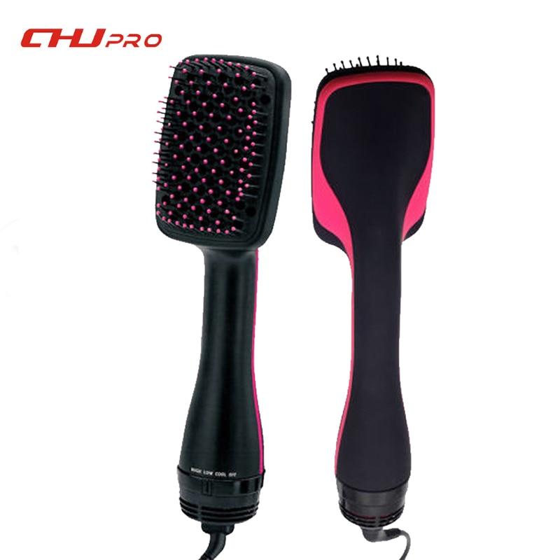 Professional Hair Dryer Brush Multi Function Electric Hair Blow Dryer Brush Hot Air Hair Curls Comb Salon Hair Style цена