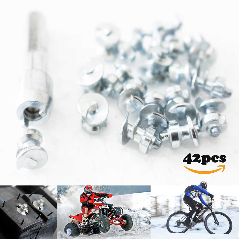 2c4175063b 42pcs Spikes Tyre for Bicycle Shoes Boots Motorbik car snow studs for  fatbike Screw in Tire