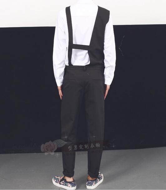 Casual coréen Mode Marée Hommes Styliste Combinaisons Style Cheveux 2017 Nouvelle Jeunes Pantalon De QWCBrdxeo