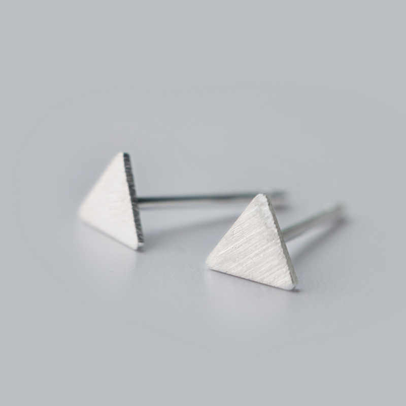 925 Sterling Silver Triangle Stud Earrings for Women Party Gift Jewelry  pendientes boucle d oreille A051