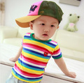 summer baby striped t shirt girls & boys short sleeve clothes Children's Cute T-shirt child cothing
