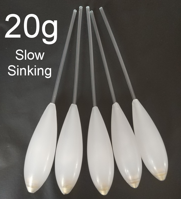 5 pcs long disatance casting SPIROLINO FORELLE POSEB slow sinking suspending Bombarda Sbirolino fly fishing spinning float