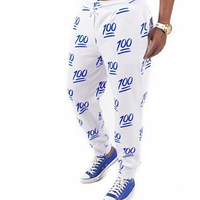 Fashion Unisex s Pants Numerals Printed Loose Trousers Casual Joggers Pants