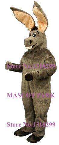Grandes oreilles Jack âne mascotte Costume fursuit taille adulte gris âne thème animal cosply costumes carnaval déguisements kits Costume