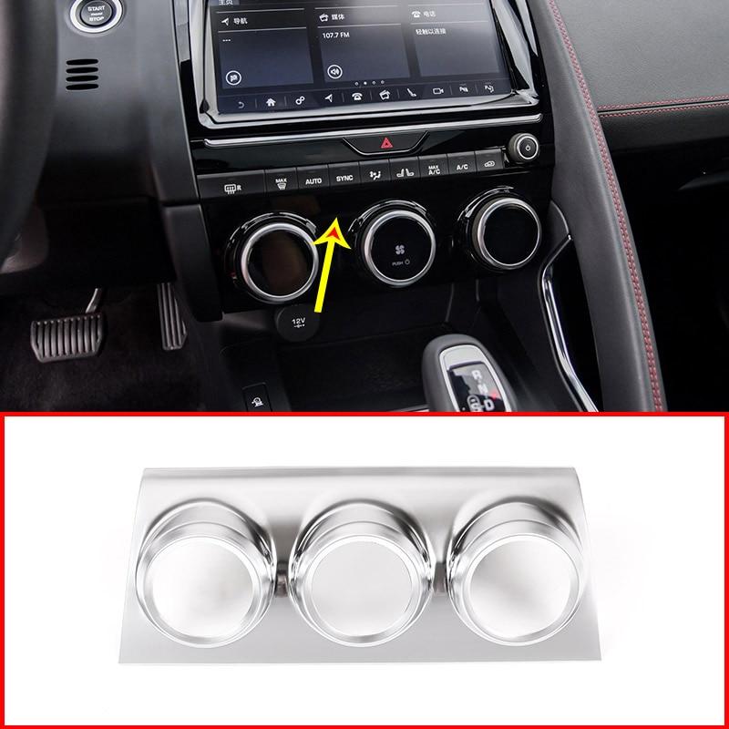 For Jaguar E PACE E PACE 2018 2019 Matt ABS Car Air Conditioning Adjustment Display Decorative
