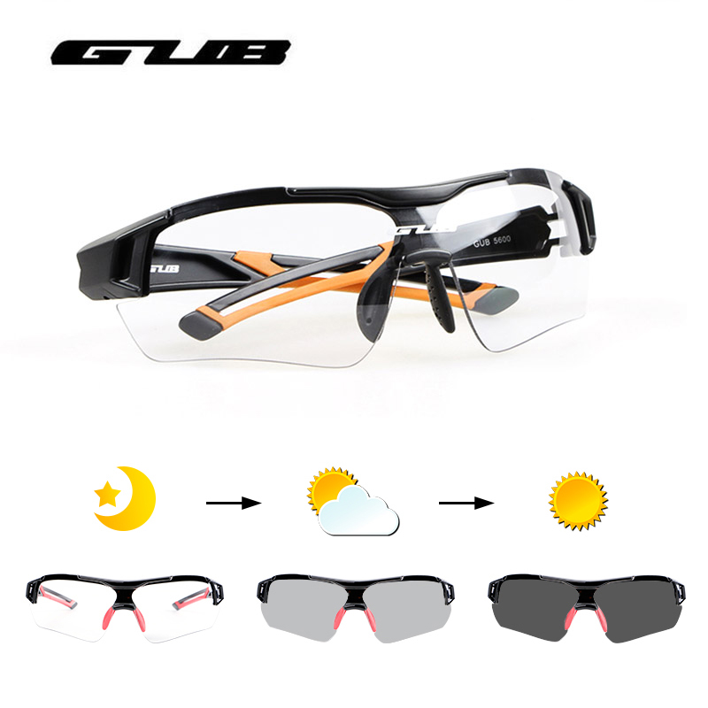 GUB Photochromic Bicycle Cycling Glasses Outdoor Sports MTB Road Bike Riding Sunglasses Goggles Myopia Frame 3 Colors Eyewear цена 2017
